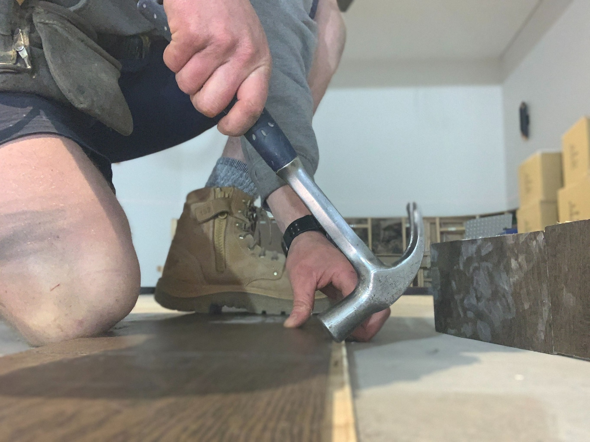 Floors being laid by Townsville Floor Sanding in Bushland Beach
